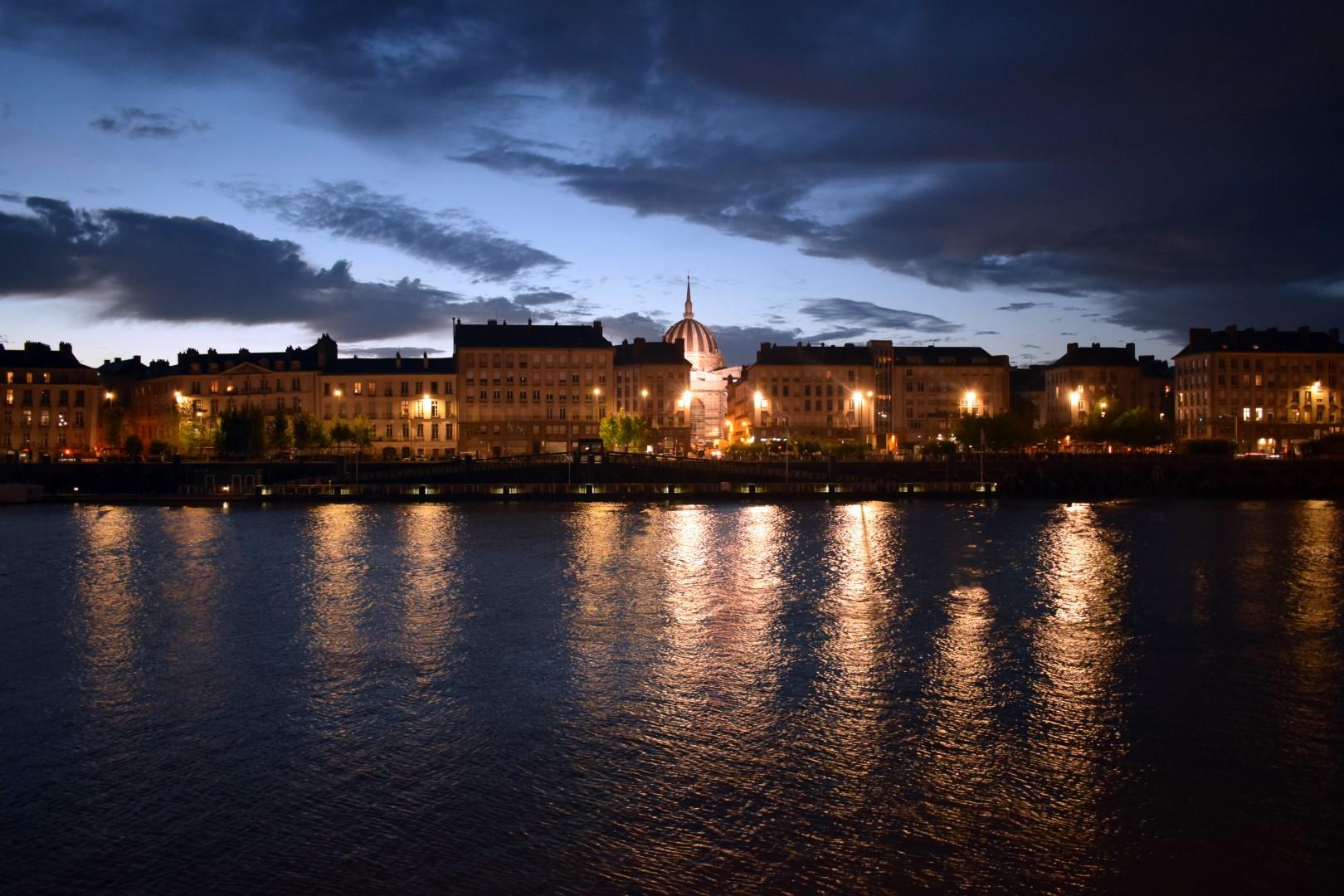 Quai de la Fosse and Loire River, Nantes