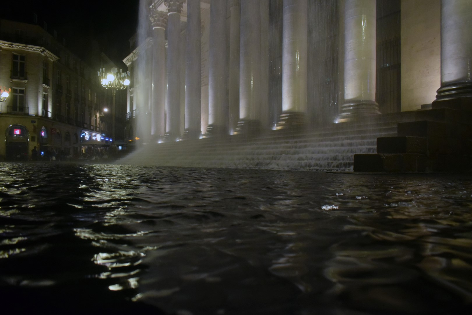 Rudeau d'eau, art installation in front of the opera house, Place Graslin , Nantes