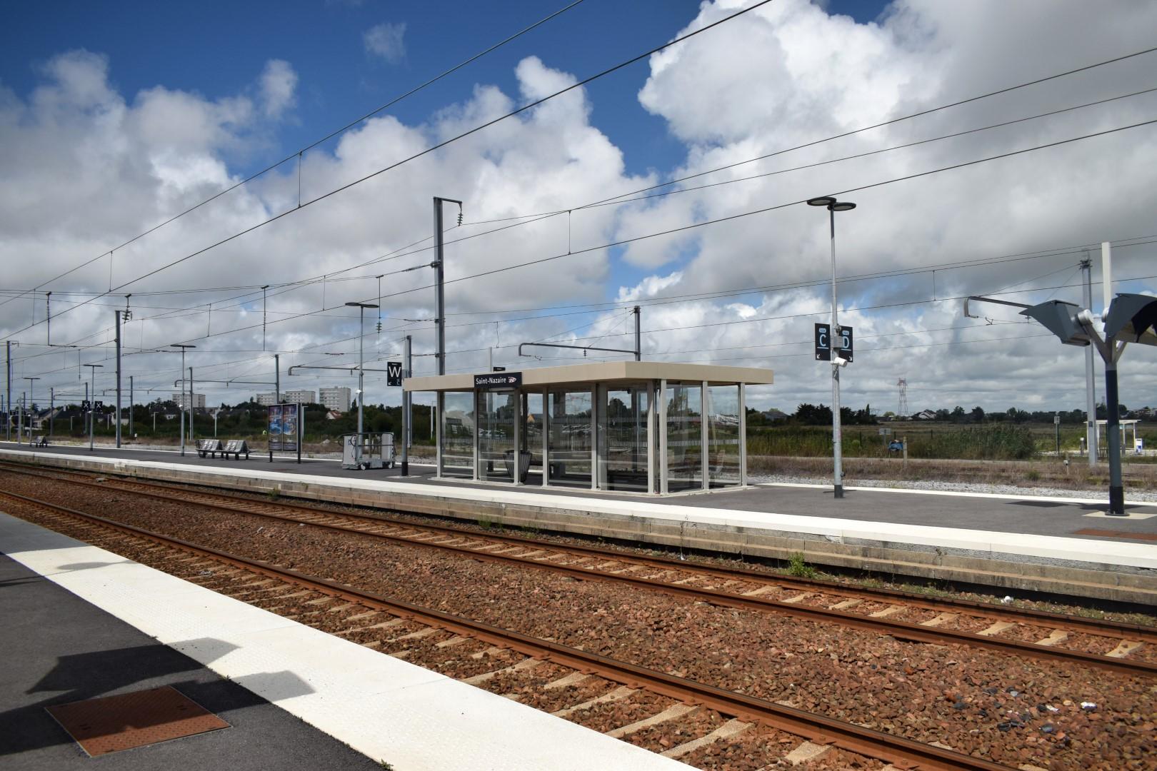 Saint-Nazaire train station, August 2020