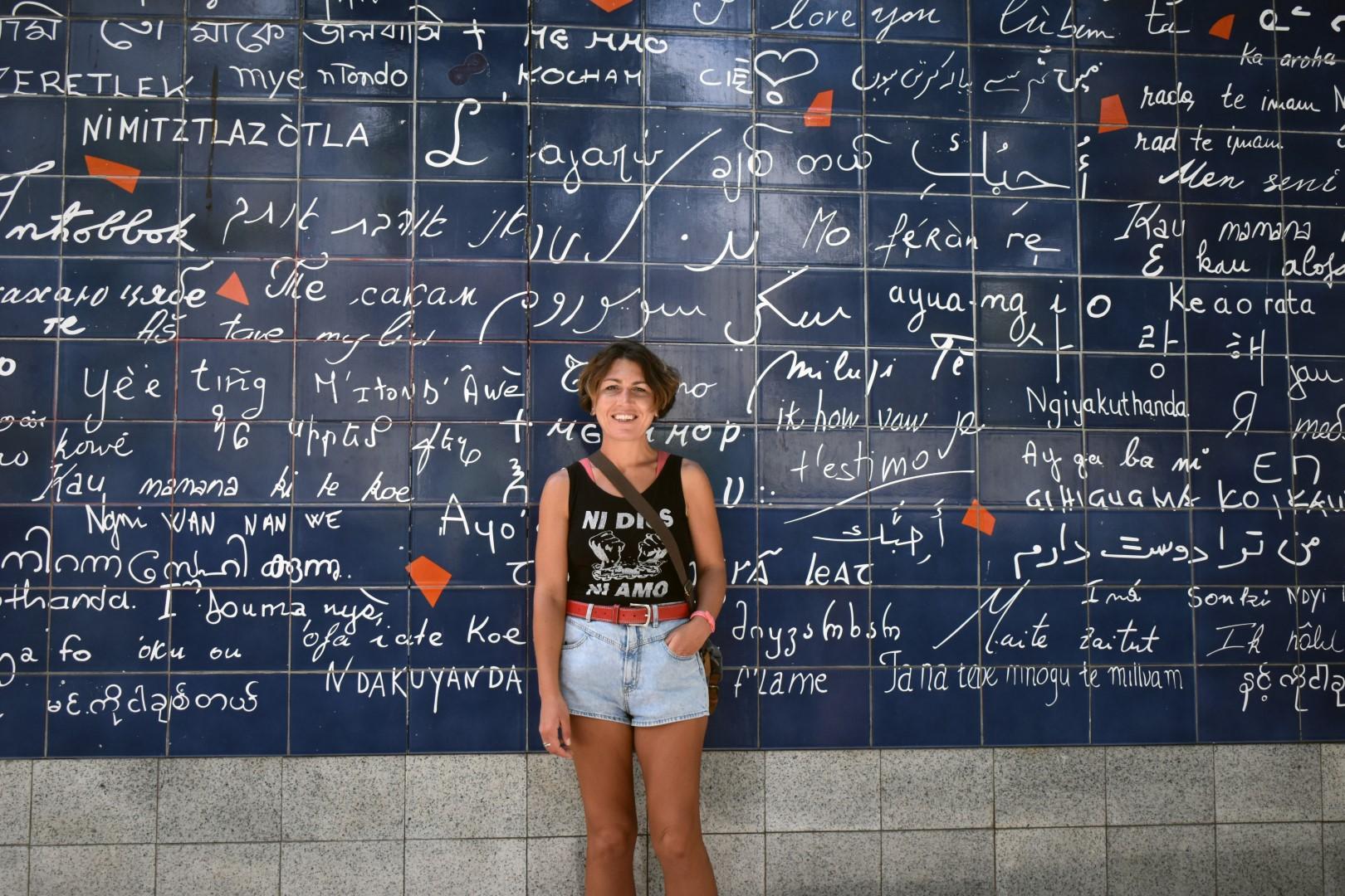 Le Mur des Je t'aime, place des Abbesses, Paris