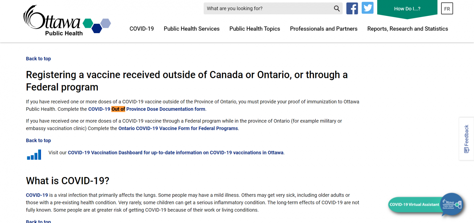 Ottawa Public Health, Proof of vaccine approved, August 2021